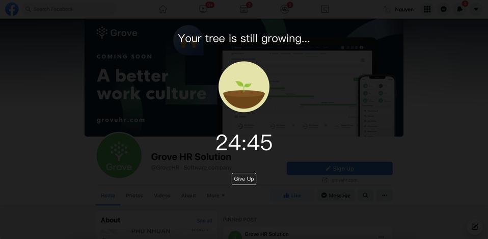 Grove HR - Productivity app - Forest app