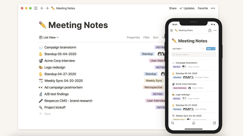 Grove HR - Productivity app - Notion