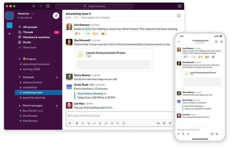 Grove HR - Productivity app - Slack