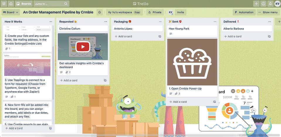 Grove HR - Productivity app - Trello