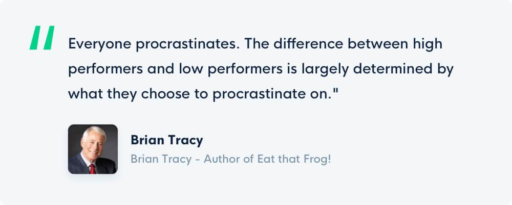 Grove HR - Productivity books - Quote Brain Tracy