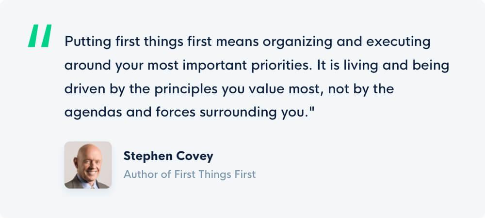 Grove HR - Productivity book - Stephen Covey