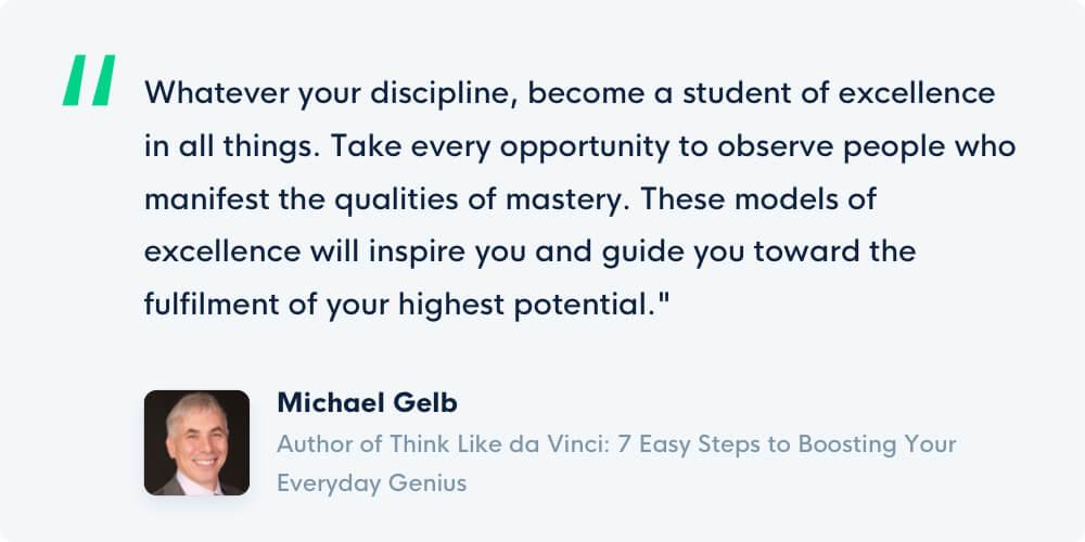 Grove HR - Productivity book - Michael Gelb quote