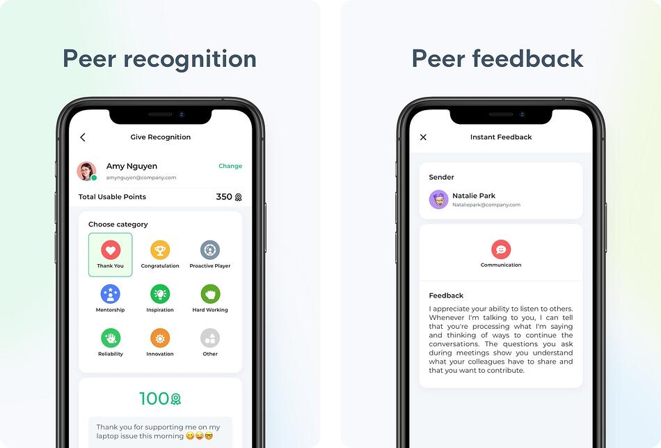 Feedback + recognition