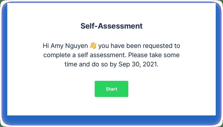 Grove HR - self assessment screenshot