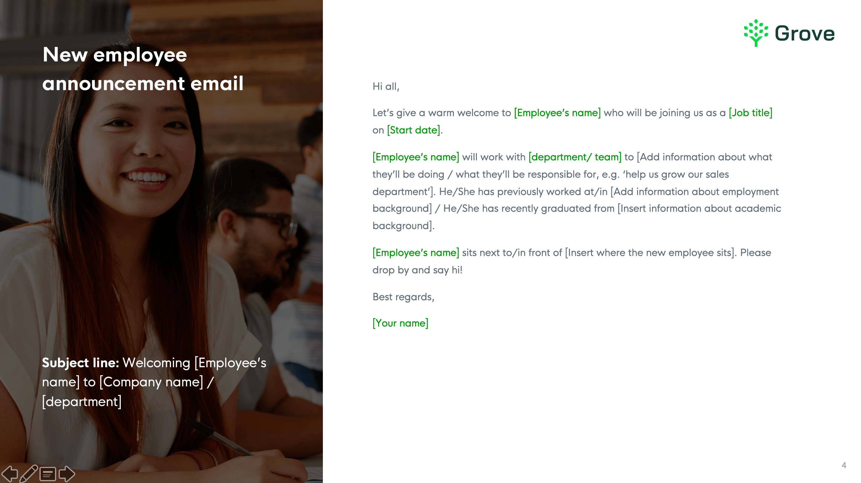 Grove HR - HR email template 3