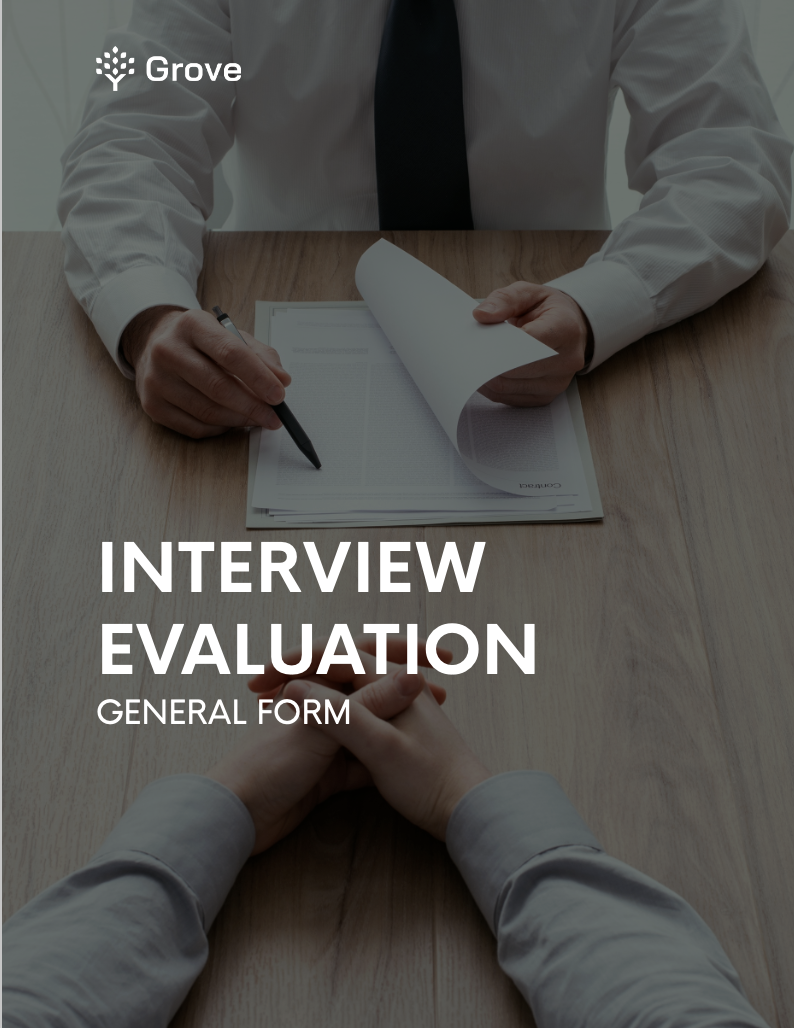 Grove HR - The essential Interview evaluation kit