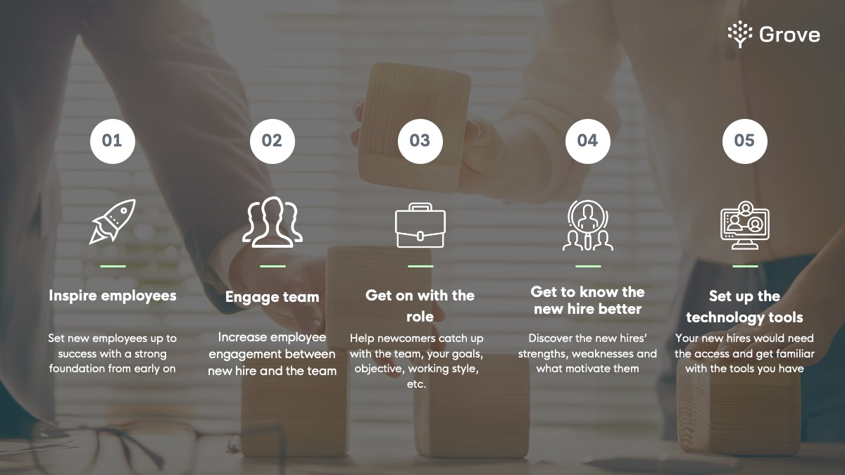 The ultimate goals of the onboarding process