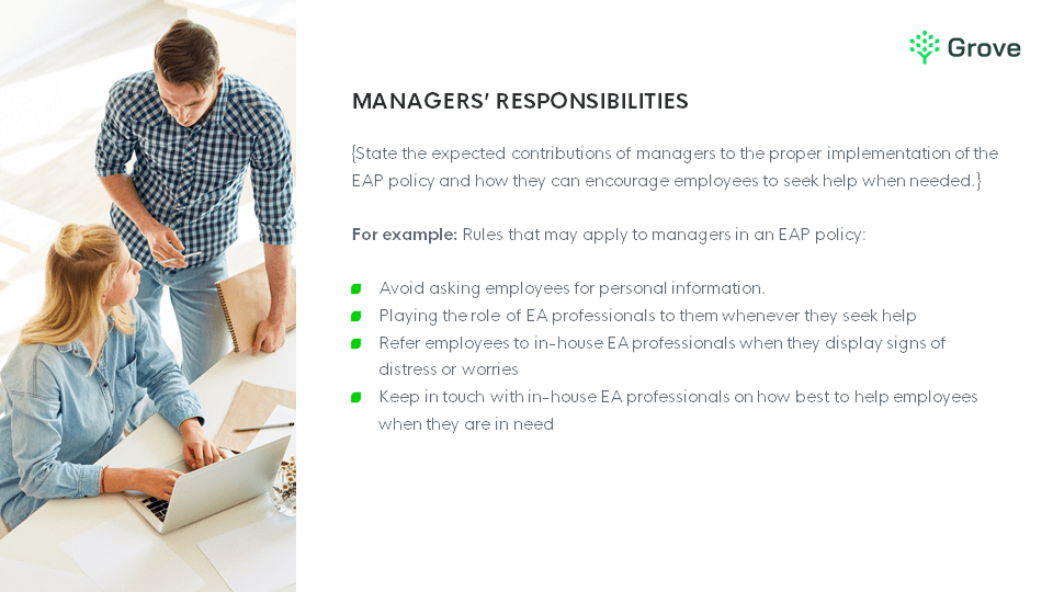 Grove HR - Employee assistance program policy template slider 3