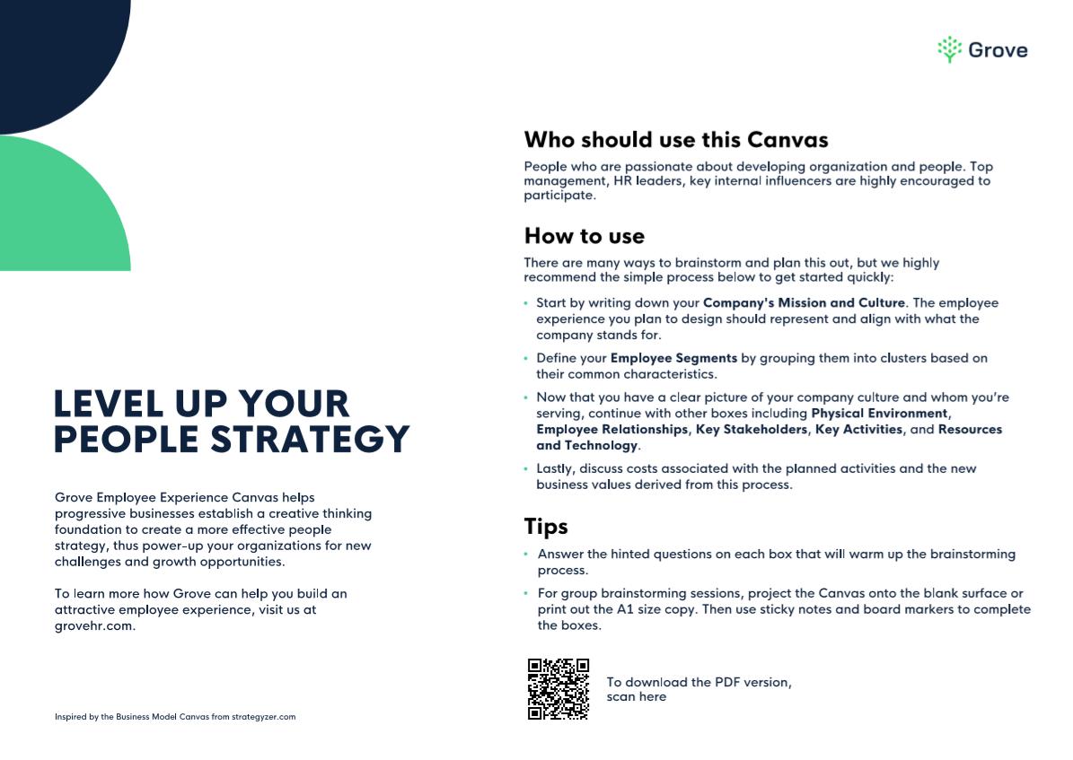 Grove HR - Employee experience canvas model slider 2
