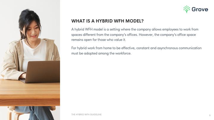 Grove HR - The hybrid work from home guideline template slider 1-1
