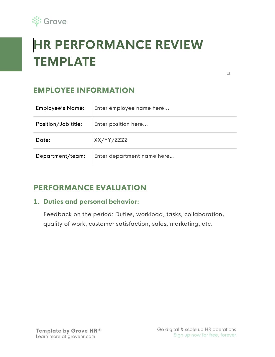 Grove HR - performance review kit slider 7