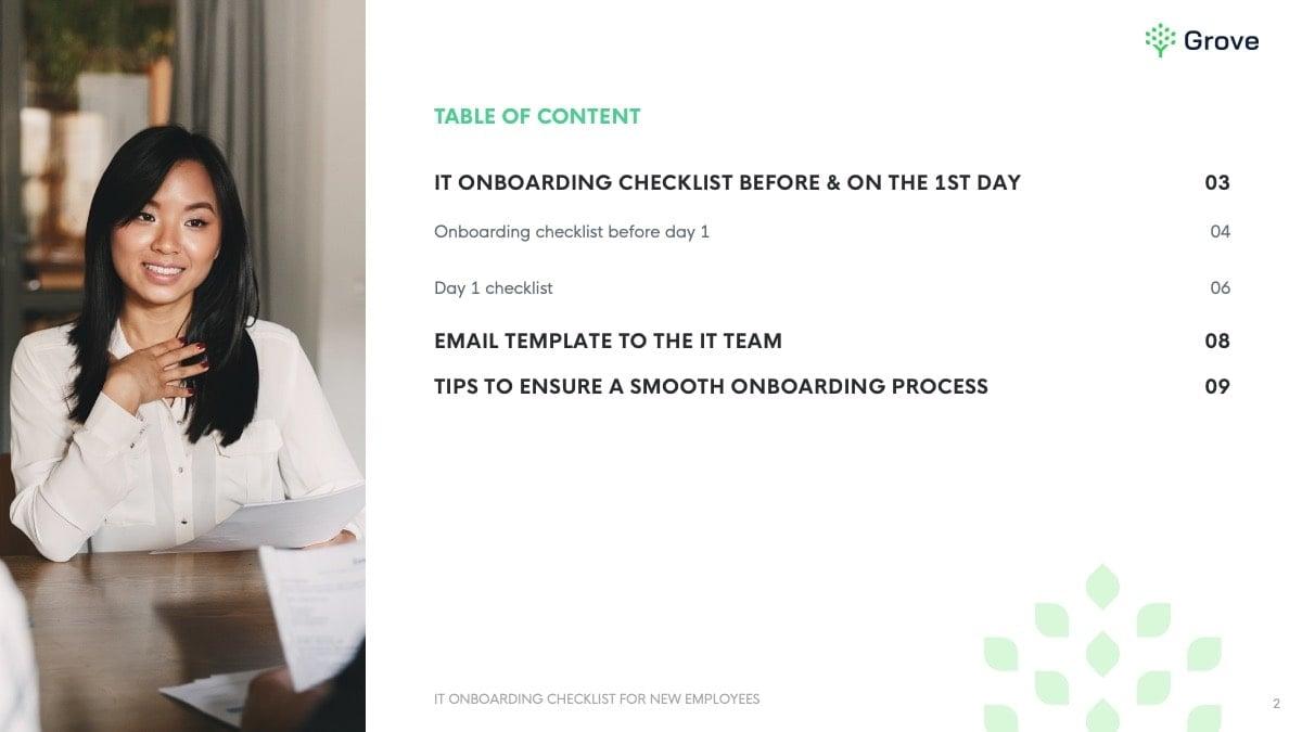 Grove HR - IT onboarding checklist slider 1