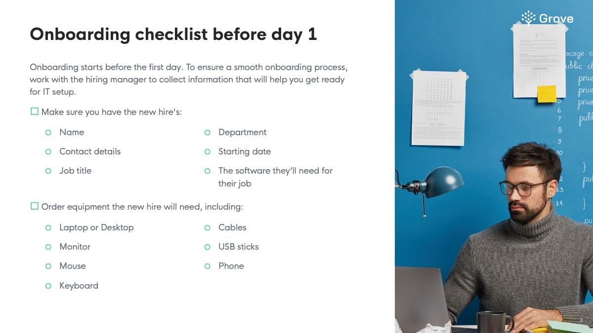 Grove HR - IT onboarding checklist slider 2