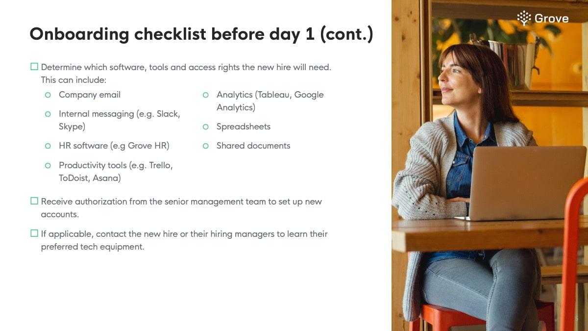 Grove HR - IT onboarding checklist slider 3