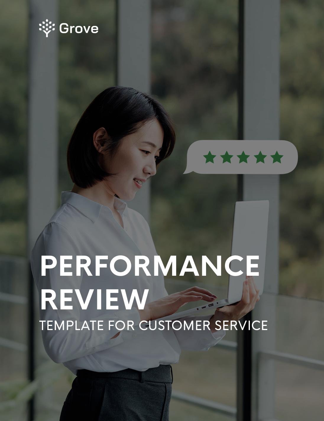Grove HR - Customer service performance review template slider 1