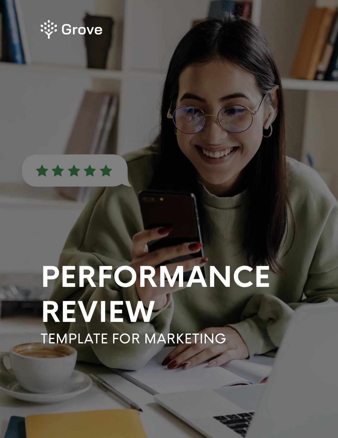 Grove HR - Marketing performance review template slider 1