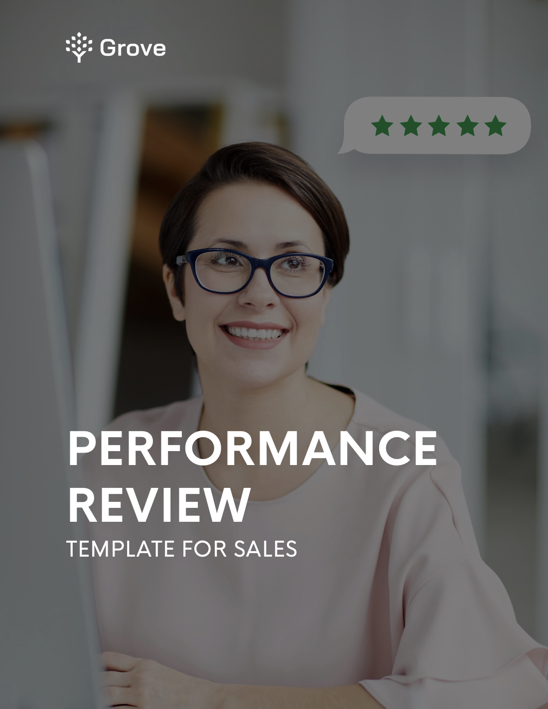 Grove HR - Sales performance review template slider 1