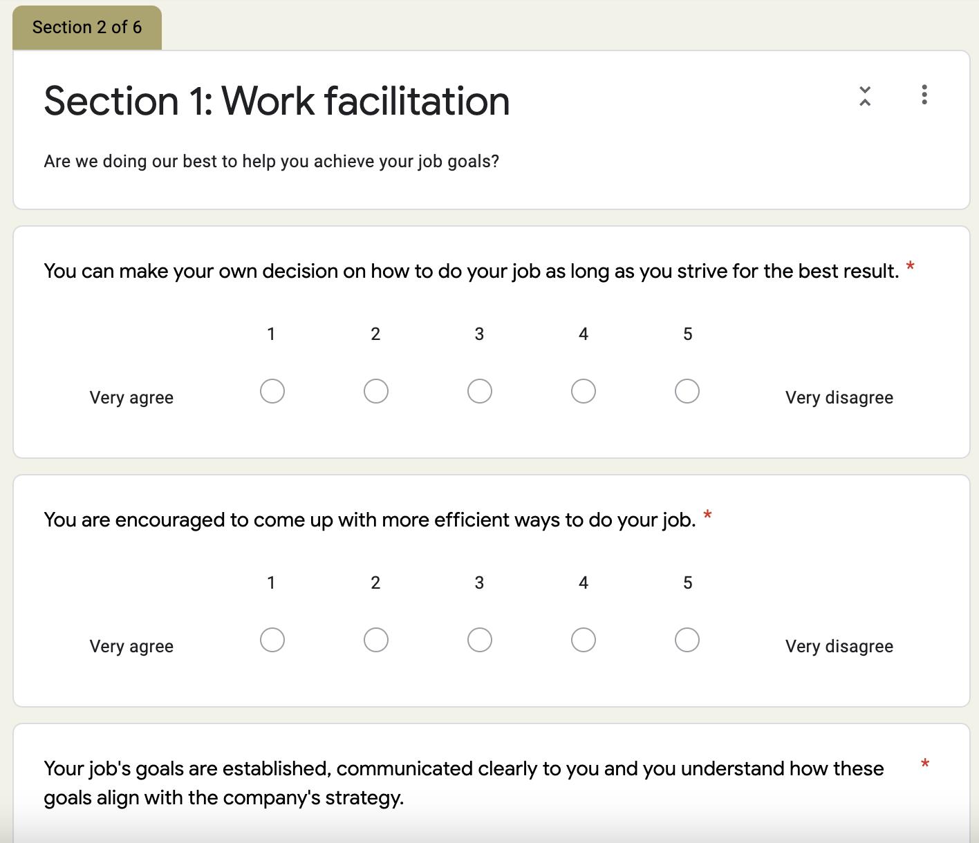 Grove HR - company culture survey template 2
