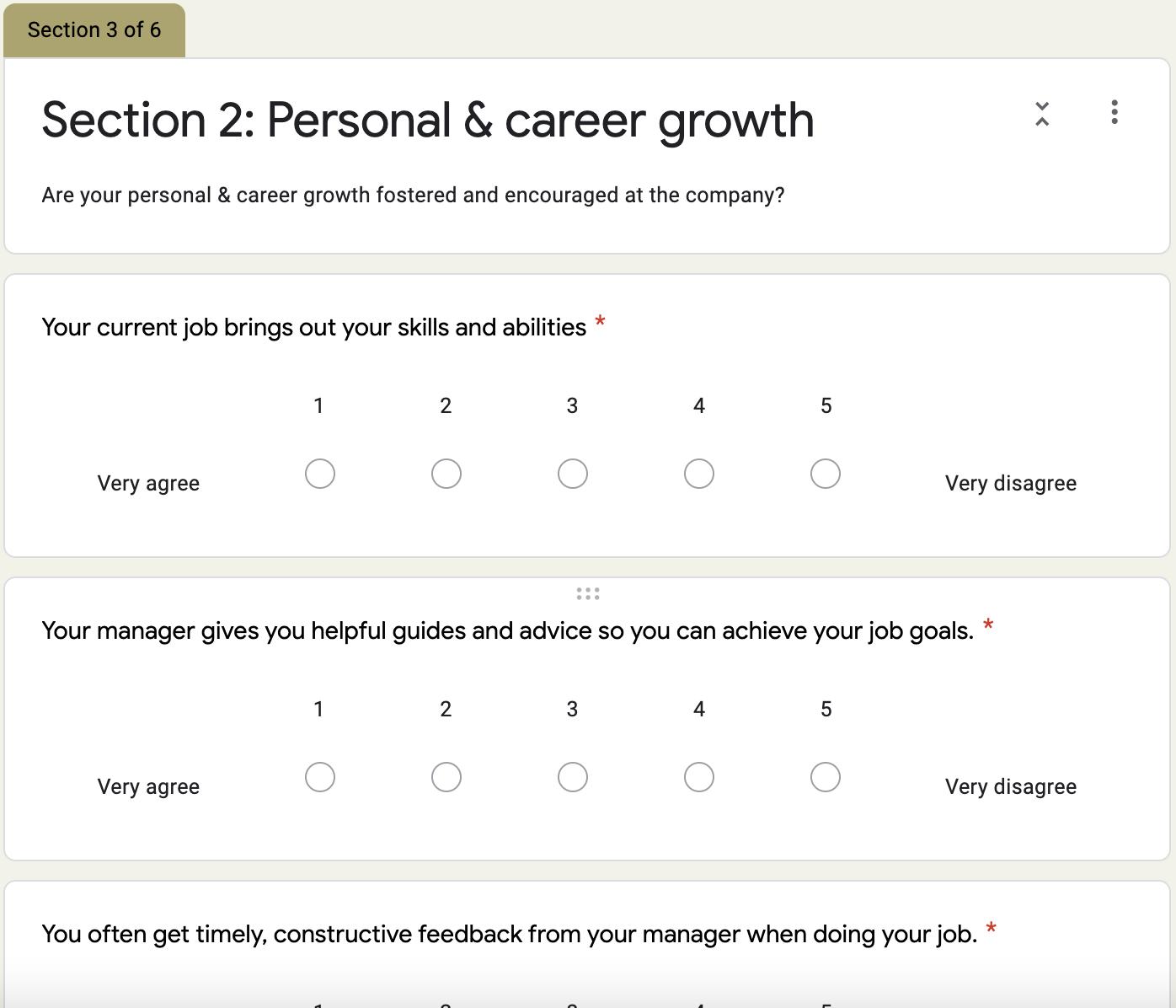 Grove HR - company culture survey template 3