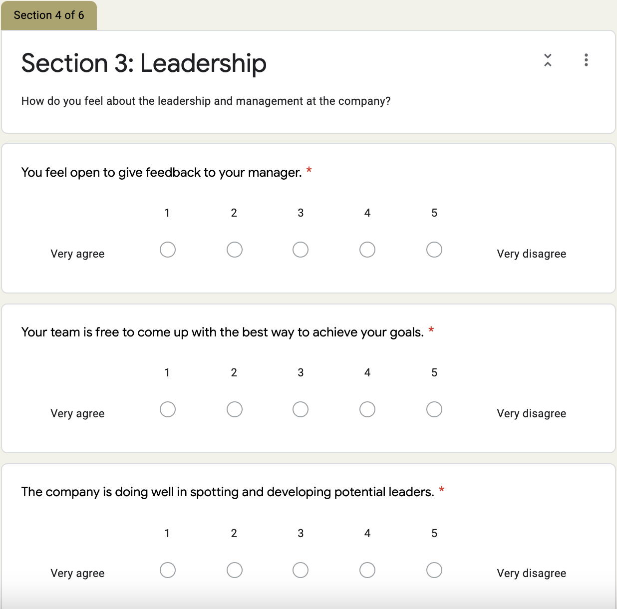 Grove HR - company culture survey template 4