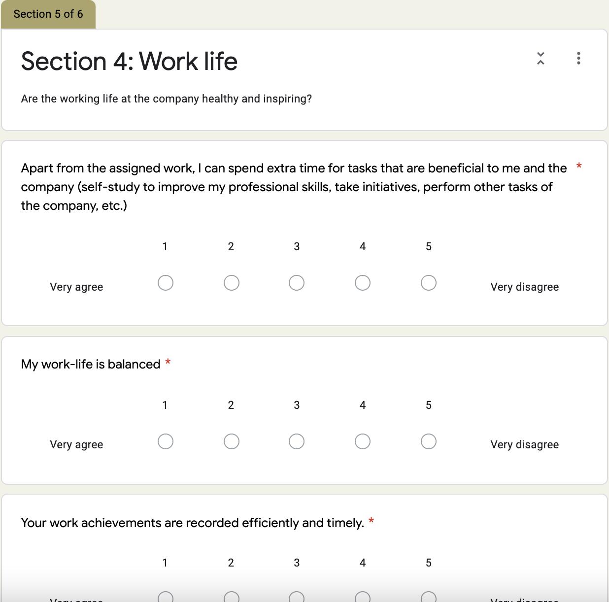 Grove HR - company culture survey template 5