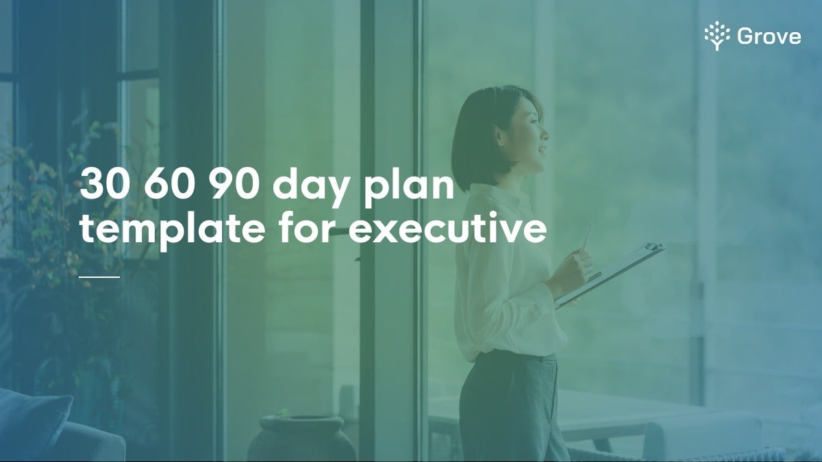 Grove HR - 30 60 90 day plan for executive template thumbnail