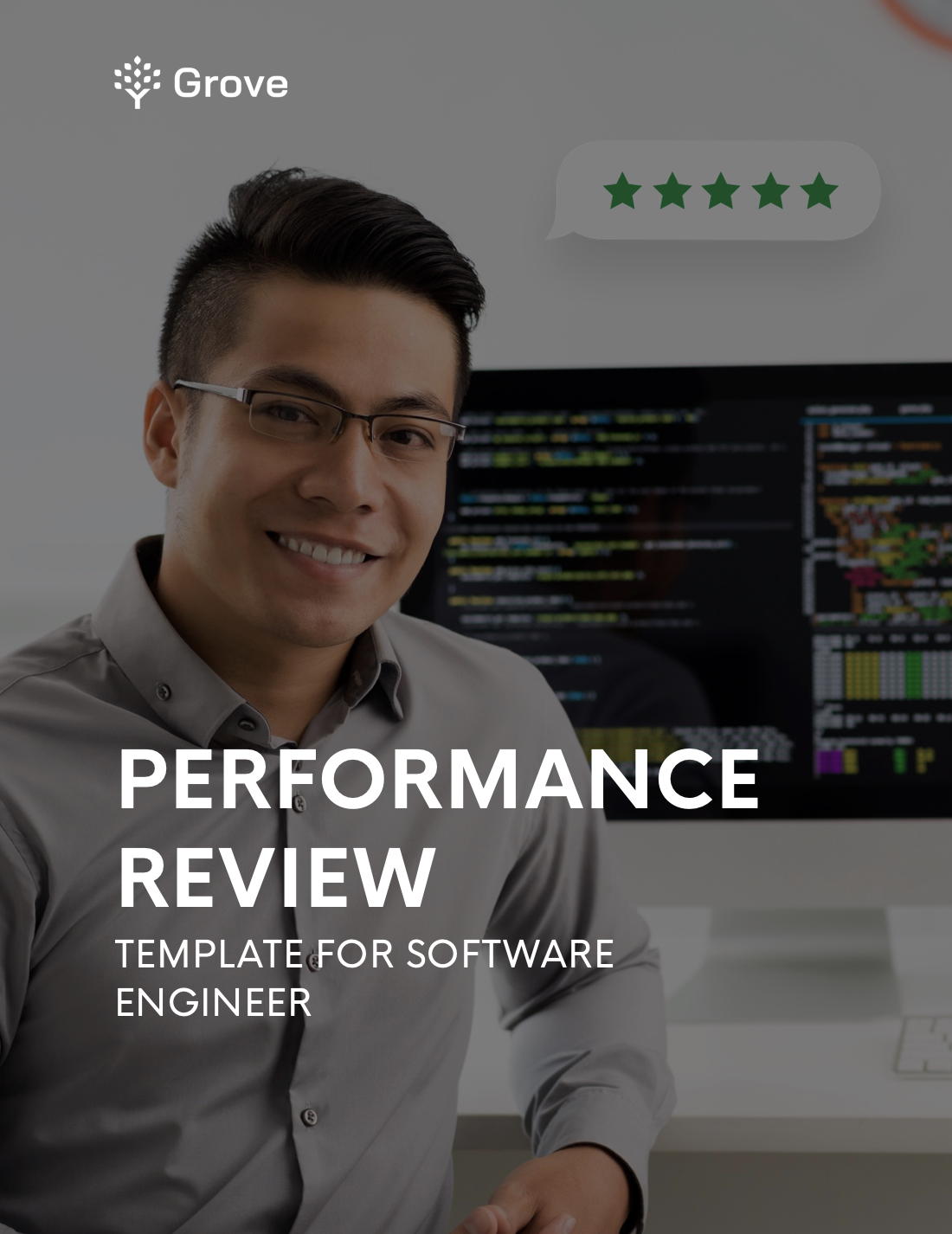 Grove HR - Software engineer performance review template slider 1