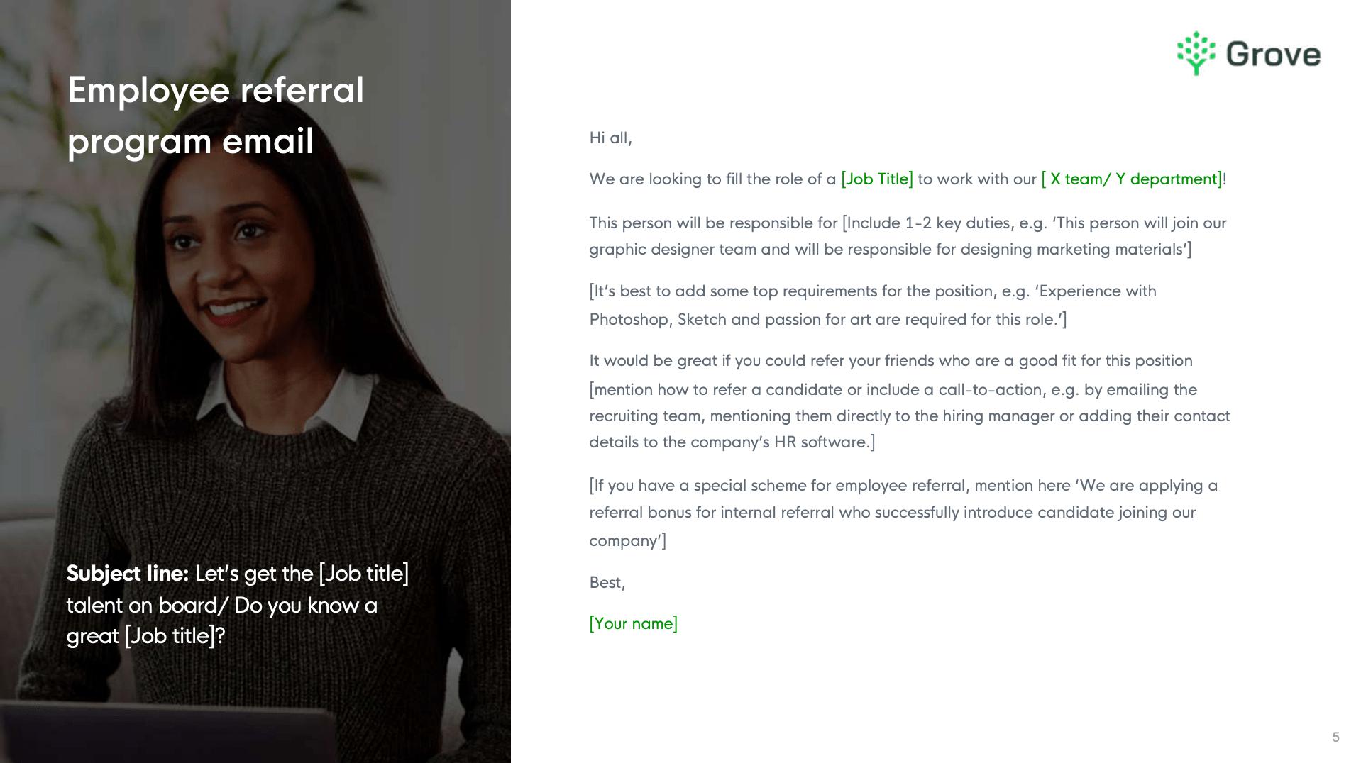 Grove HR - 10+ essential recruitment email templates 3