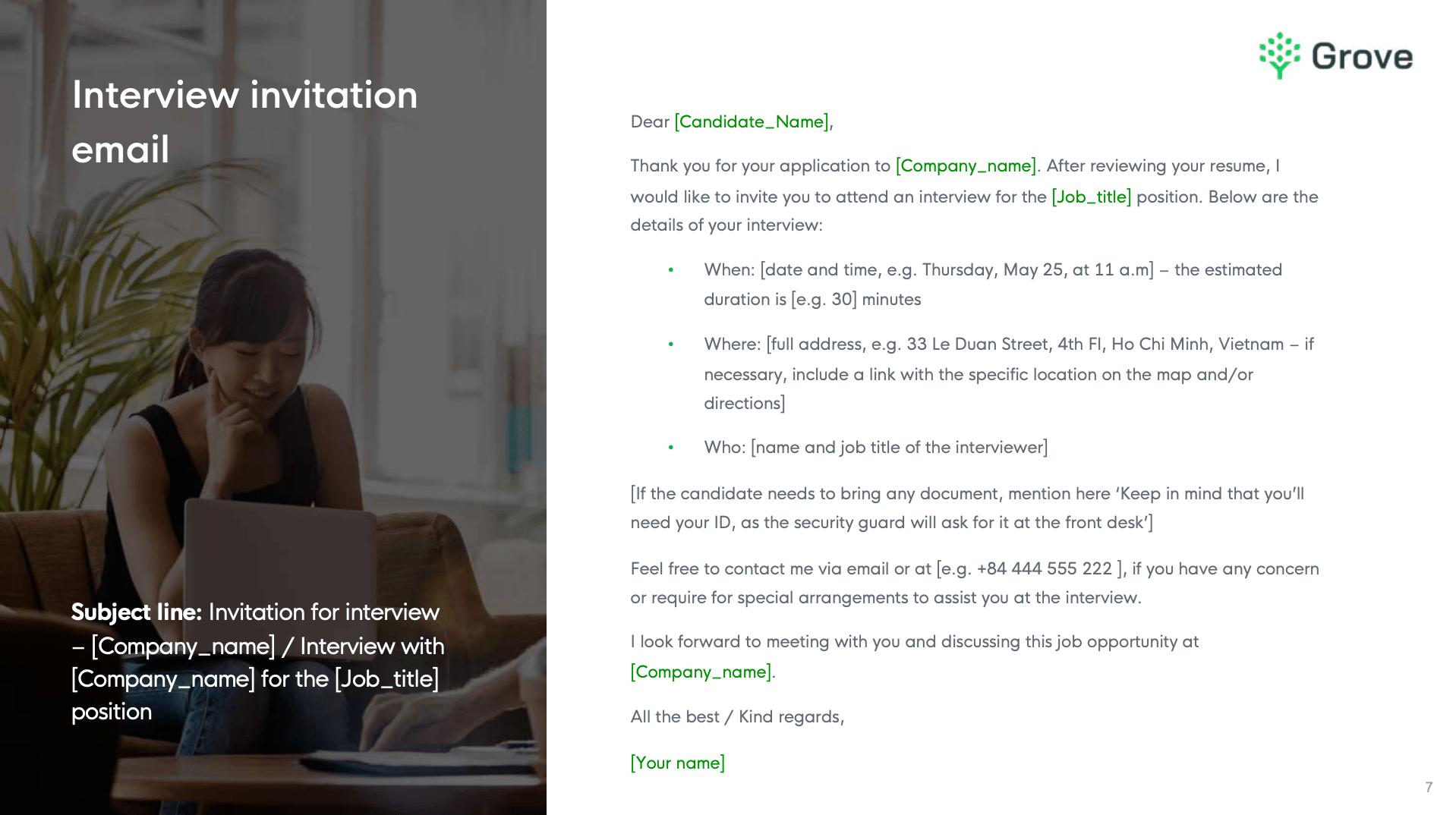 Grove HR - 10+ essential recruitment email templates 4