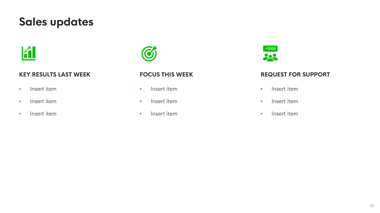 weekly virtual meeting template screenshot